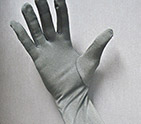 Silver Coated Nylon Gloves for EMI Shielding