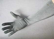 Silver Coated Nylon Gloves